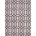 Hand-tufted Contemporary Geometric Gray/ Black Rug (5' x 8')