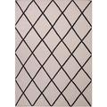 Handmade Flat-weave Geometric-patterned Gray/ Black Area Rug (9' x 12')