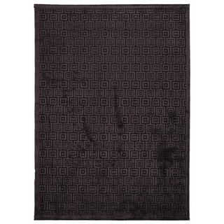Contemporary Geometric Black Rug (9' x 12')