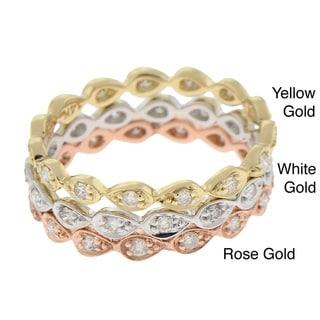 Beverly Hills Charm 14k Gold 1/5ct TDW Teardrop Diamond Band (H-I, I1)