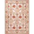 Hand-tufted Transitional Oriental Pattern Ivory Rug (9'6 x 13'6)
