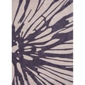 Hand-tufted Contemporary Floral Purple Rug (5' x 7'6)
