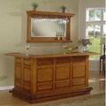 Whitaker Furniture Manchester Burnished Oak Bar Mirror Set