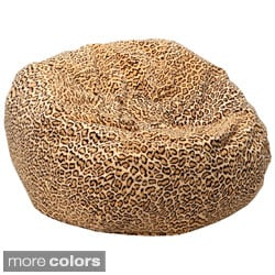 XXL Safari Micro-Fiber Suede Animal Print Bean Bag