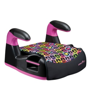 Evenflo Amp LX No-Back Booster Seat in Peace and Love
