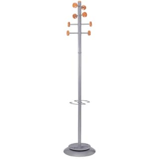 Timby Modern 8 Peg Coat Rack with Umbrella Holder