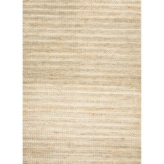 Hand-woven Naturals Stripe Pattern Brown Rug (8' x 10')