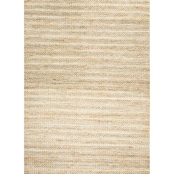 Hand-woven Naturals Stripe Pattern Brown Rug (8' x 10')