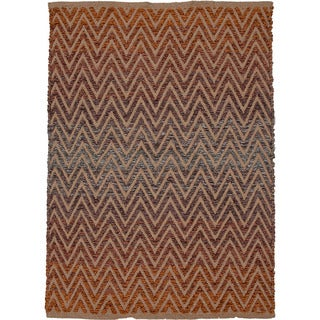 Hand-woven Naturals Stripe Pattern Multi Color Rug (2' x 3')
