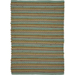 Handwoven Naturals Stripe Pattern Multicolor Cotton-blend Area Rug (2' x 3')