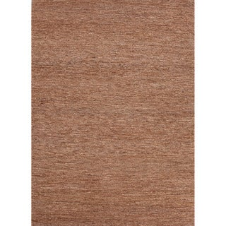 Handwoven Naturals Solid-pattern Brown Area Rug (8' x 10')