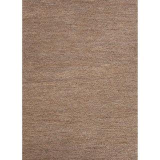 Hand-woven Naturals Solid Pattern Gray/ Black Rug (8' x 10')