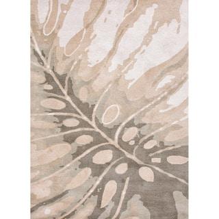 Hand-tufted Transitional Coastal Pattern Gray/ Black Rug (5' x 8')