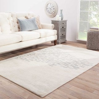 Hand-tufted Transitional Animal Print Pattern Ivory Rug (5' x 8')