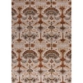 Hand-tufted Transitional arts/ Crafts Brown Rug (9'6 x 13'6)