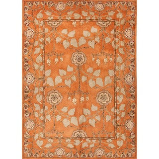 Hand-tufted Transitional Oriental Red/ Orange Rug (9'6 x 13'6)