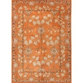 Hand-tufted Transitional Oriental Red/ Orange Rug (9'6 x 13'6)