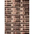 Hand-tufted Contemporary Abstract Pattern Brown Rug (3'6 x 5'6)