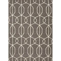 Handmade Flat-weave Geometric-pattern Gray/ White Area Rug (8' x 10')