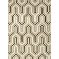 Handmade Flat-weave Geometric Pattern Gray/ Black Area Rug (5' x 8')