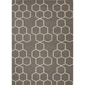 Durable Handmade Flat-weave Geometric Pattern Gray/ Black Rug (5' x 8')