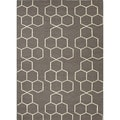 Handmade Reversible Flat-weave Geometric-pattern Gray/ Black Rug (3'6 x 5'6)