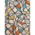 Hand-tufted Contemporary Geometric Pattern Multi Rug (7'6 x 9'6)