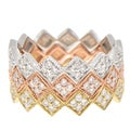 14K Gold 1/4ct TDW Stackable Geometric Diamond Band Ring (H-I, I1)