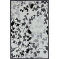 Transitional Floral Gray/ Black Rug (7'6 x 9'6)