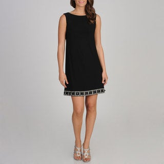 R & M Richards Women's Embellished Shift Dress