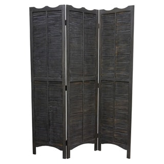 Madras Black 3-Panel Screen (China)