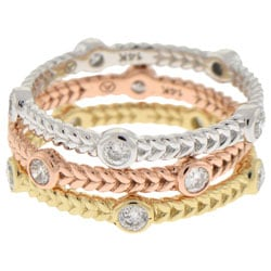 Beverly Hills Charm 14k Gold 1/4ct TDW Bezel Set Stackable Diamond Eternity Band Ring (H-I, SI2-I1)