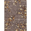 Hand-tufted Transitional Floral Pattern Gray/ Black Rug (5' x 7'6)