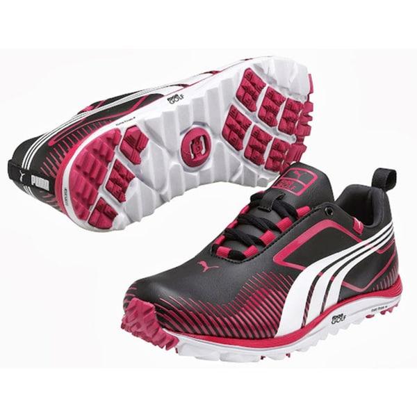 Puma Women s Red Black Faas Lite Spikeless Golf Shoes ed36aa0e9