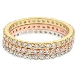 14k Gold 1/2ct TDW Stackable Eternity Band Ring (H-I, I1)