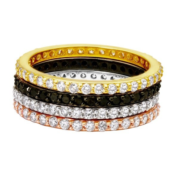 Beverly Hills Charm 14K Gold 1/2ct TDW Stackable Diamond Eternity Wedding Band Ring (H-I, SI2-I1)