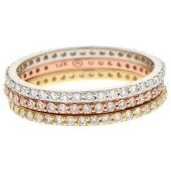 14k Gold 1/3ct TDW Eternity Stackable Diamond Band Ring (H-I, I1)
