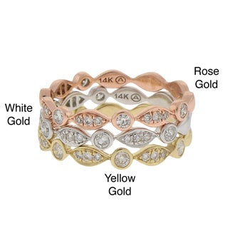 Beverly Hills Charm 14k Gold 1/4ct TDW Diamond Stackable Band (H-I, I1)