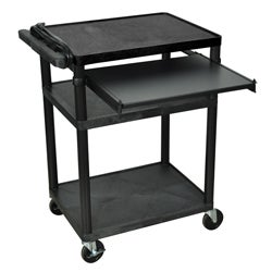 3 Shelf Black Presentation Station LP34LE-B