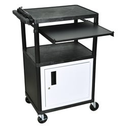 Black 3 Shelf Black Presentation Station LP42CLE-B