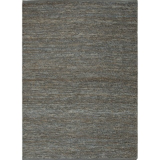 Hand-woven Naturals Solid Pattern Blue Rug (8' x 10')
