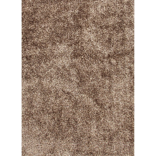 "Handwoven Shags Solid-pattern Gray/ Black Rug with Lustrous Finish (3'6"" x 5'6"")"