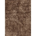 Hand-woven Shags Solid Pattern Brown Rug (5' x 7'6)