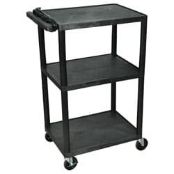 Black 3 Shelf Presentation Station LP42E-B