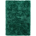Hand-woven Shags Solid Pattern Blue Rug (5' x 8')