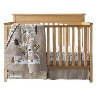 BananaFish MiGi Puppy Play 3-piece Crib Bedding Set