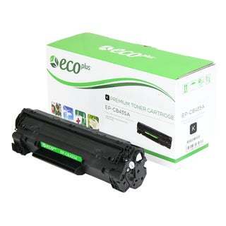 EcoPlus HP Remanufactured Black Toner Cartridge CB435A