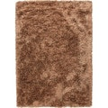 Hand-woven Shags Abstract Pattern Brown Rug (5' x 8')