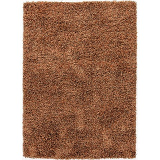 Handwoven Shags Abstract-pattern Brown Accent Rug (2' x 3')