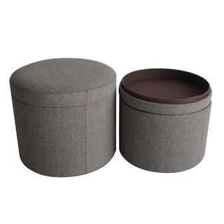Mandalay Tweed Storage Ottomans (China)